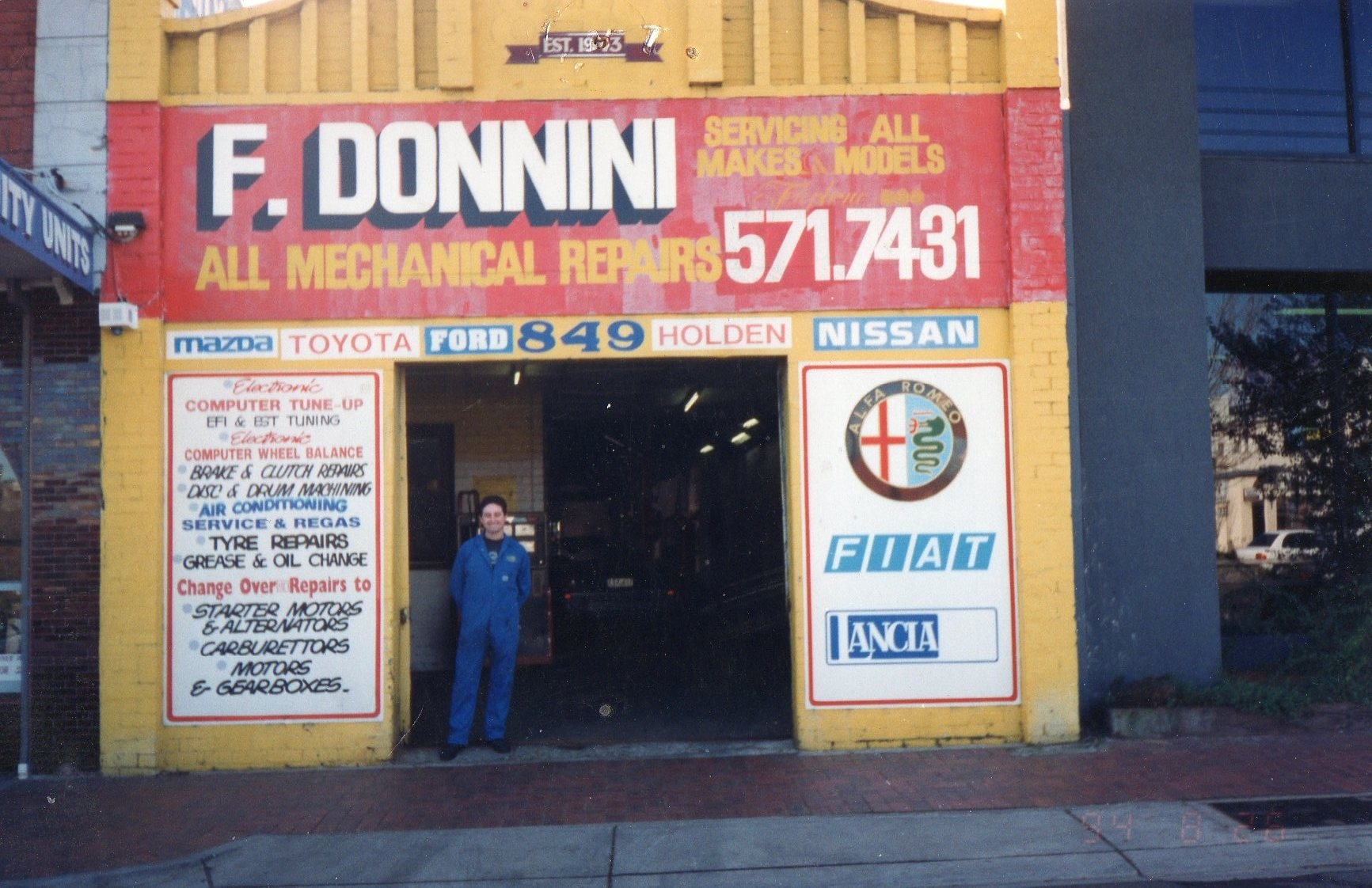 Old Workshop in East Malvern Before Relocating to Campbellfield in 1994 Established by Frank Donnini in Melbourne